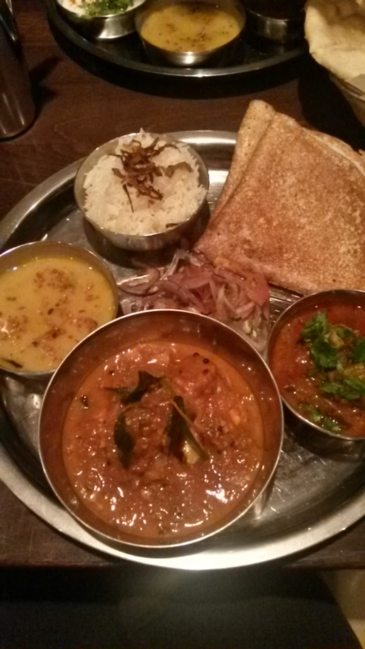 South Indian Thali at Raja Monkey