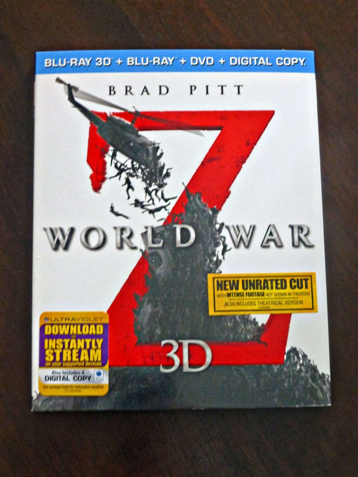 Enter To Win World War Z 3D DVD