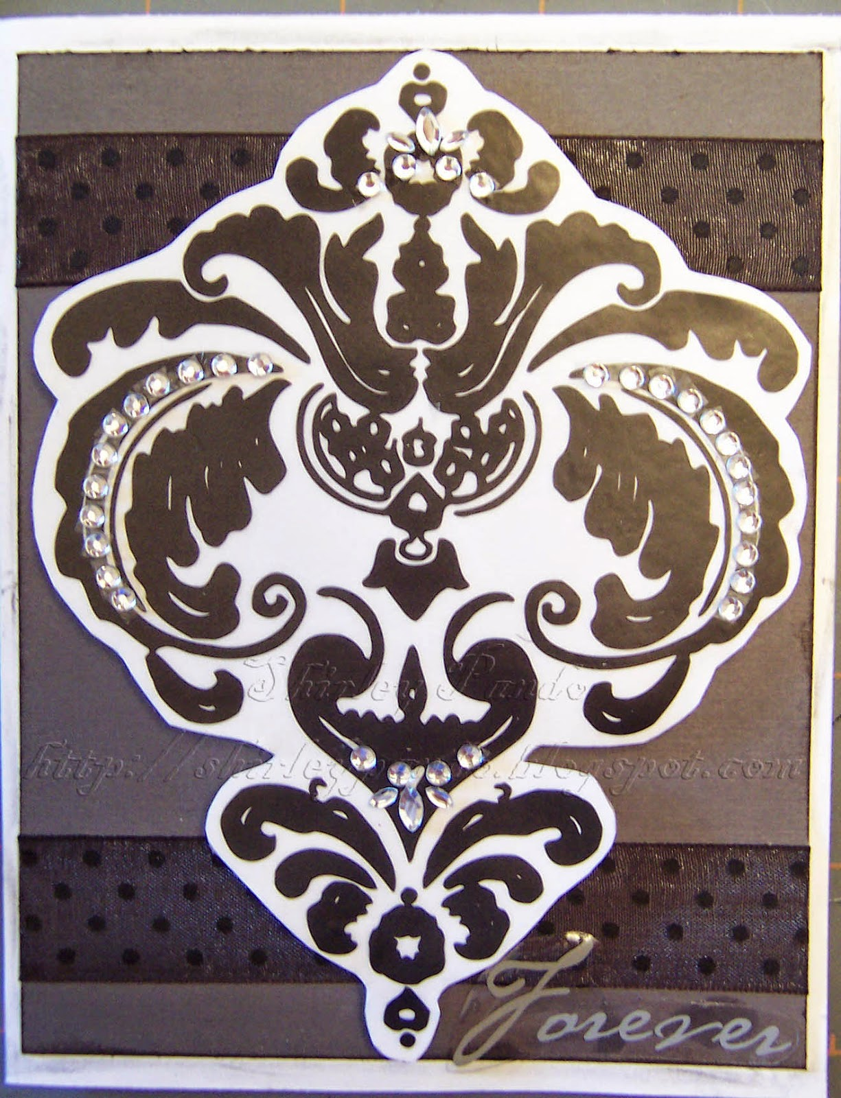 Damask Forever card
