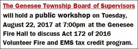 8-22 Genesee Township Public Workshop