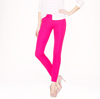J Crew Bright Berry Minnie Pants