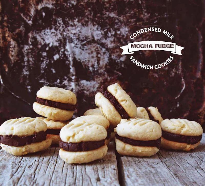 Milk and Honey: Condensed Milk Mocha Fudge Sandwich Cookies