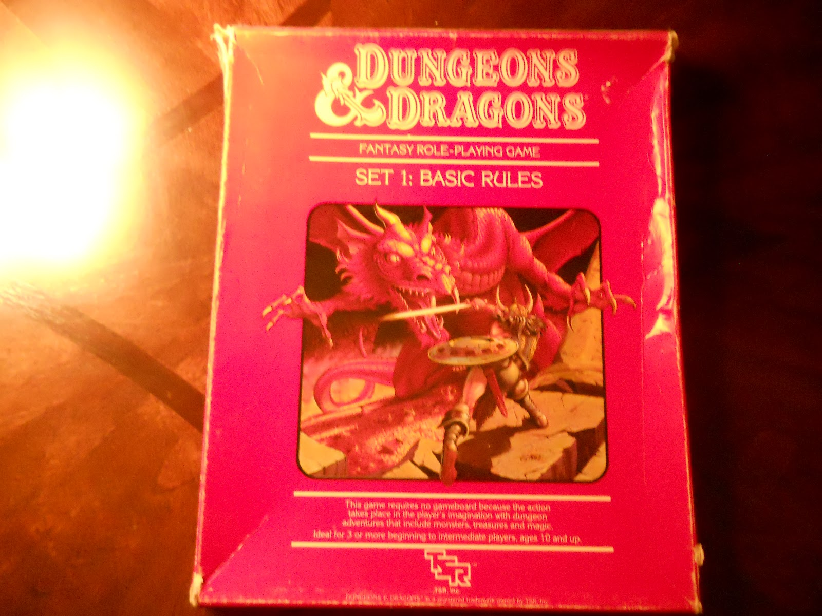 memories of toymorrow tsr dungeons and dragons red box basic rules