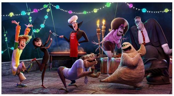 Póster animado de 'Hotel Transilvania 2' con la monstruosa familia haciendo de las suyas