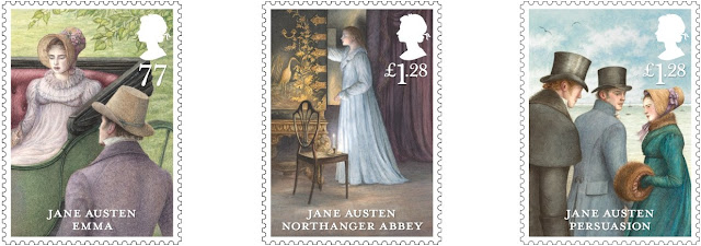 Three stamps from Jane Austen 2013 set.