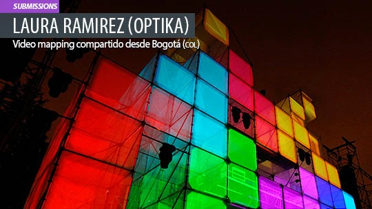 Video mapping. AV invader de LAURA RAMIREZ (OPTIKA)