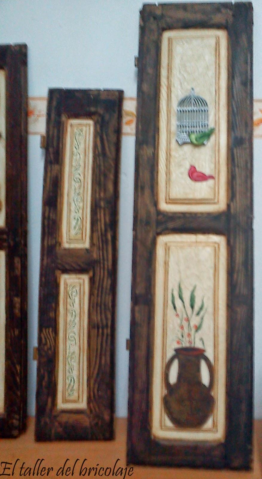 El taller del bricolaje cuadros en contraventanas de madera for Bricolaje en madera pdf