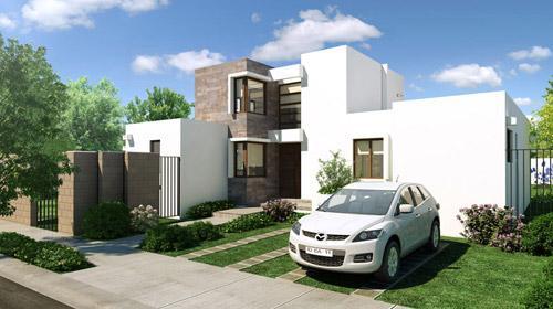 Frentes de casas con plantas imagui for Frentes de casas sencillas