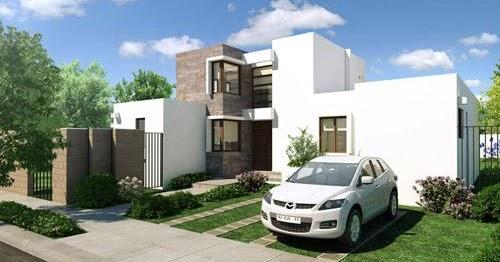 Fachadas de casas fachadas de casas sencillas de dos plantas - Casas de dos plantas sencillas ...