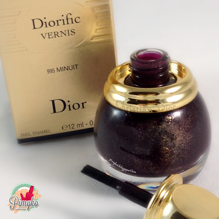 "pimyko swatch Diorific ""Minuit"" collection Golden Winter 2013 by Dior"