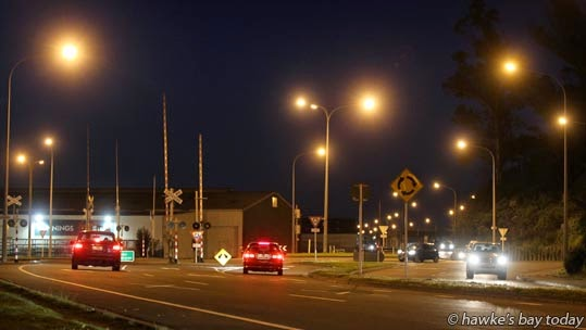 "Intersection of SH2 and Hydrabad Rd, Napier -  Prime Minister John Key has announced a $212 million roading and construction package, which includes a ""Port of Napier access package"" photograph"