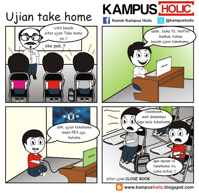 #007 Ujian take home komik kampus holic