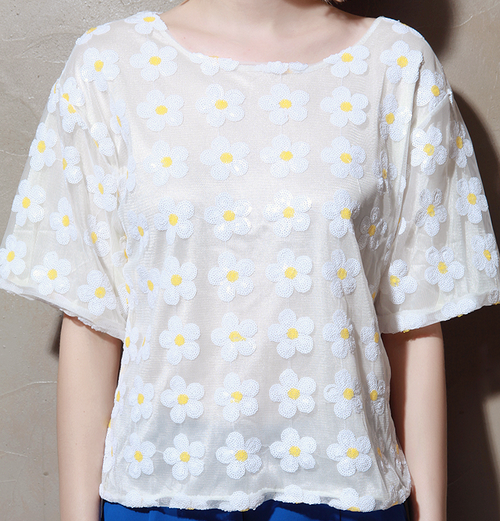 Sequined Daisy Top