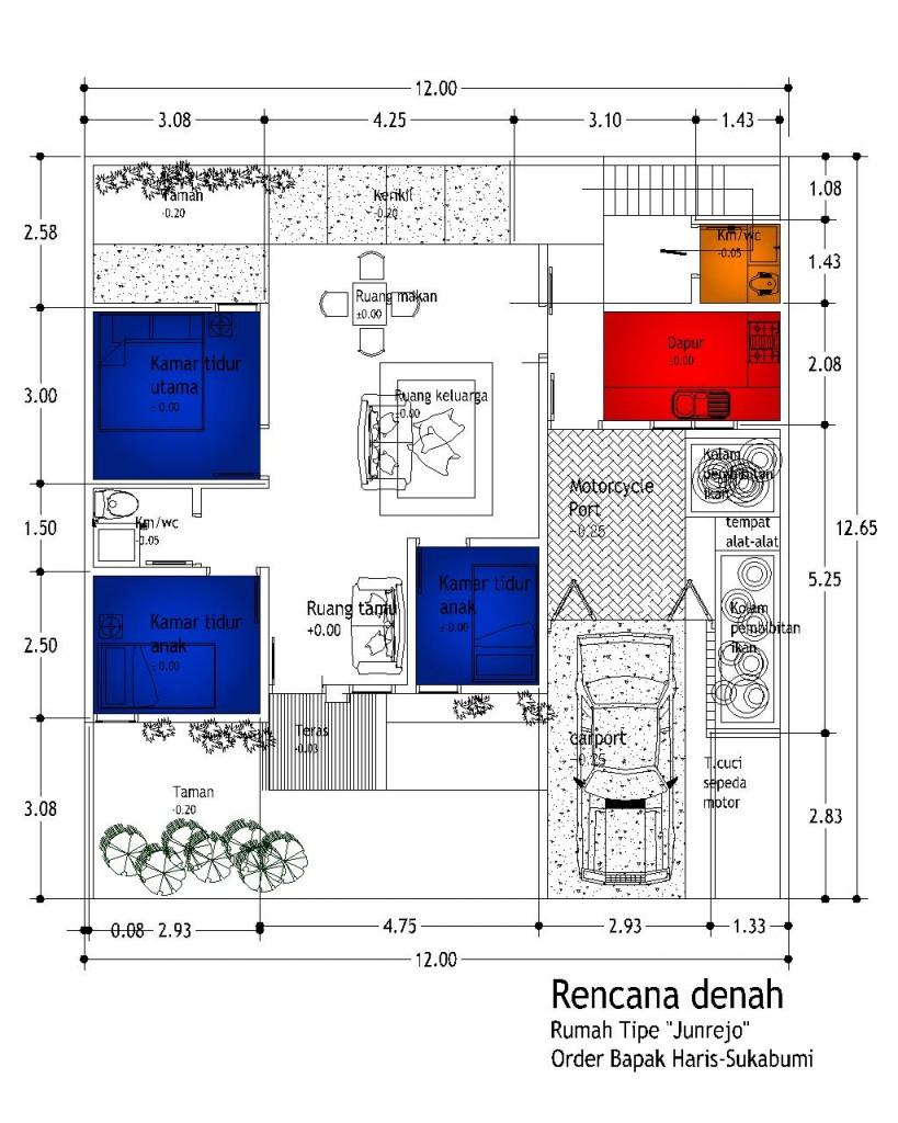 Gambar Desain Rumah Minimalis: Denah Rumah Minimalis