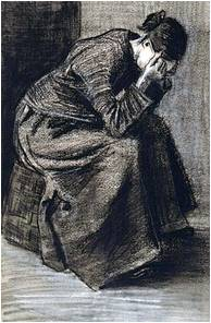 Vincent Van Gogh - Woman Mourning, 1883