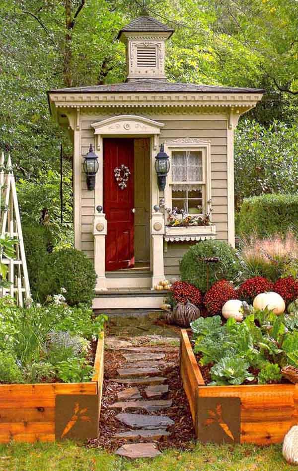 Rustik chateaux caba as de jard n aprovechando el espacio for Cabanas de jardin