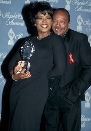 1997 - Loving Oprah's slick hair-do at the People's Choice Awards