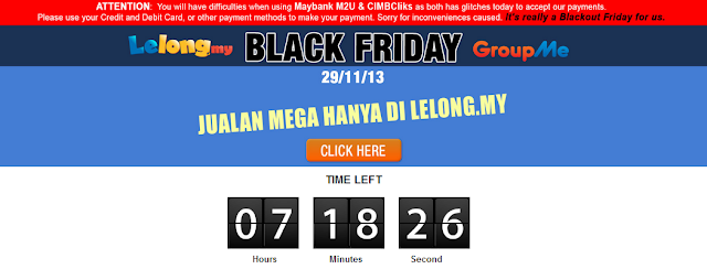 "Lelong.my announcement on ""Blackout Friday"""