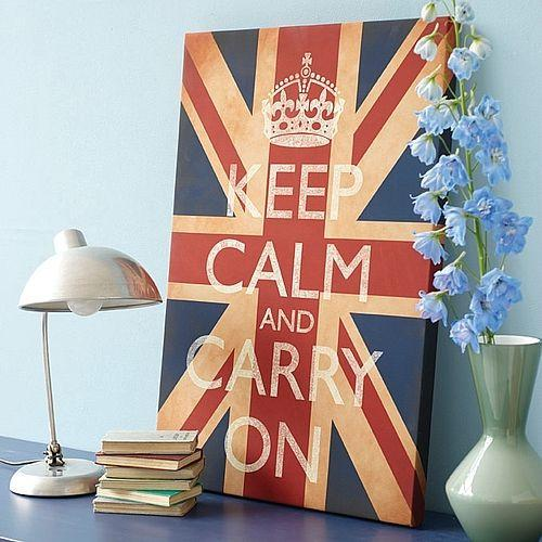 Cheap chic keep calm and carry on - Decor union 2000 ...