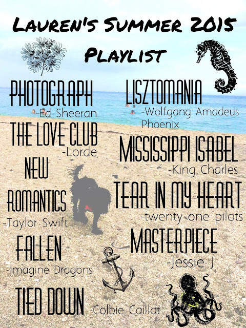 summer 2015 playlist, vacation playlist, summer break songs, july playlist
