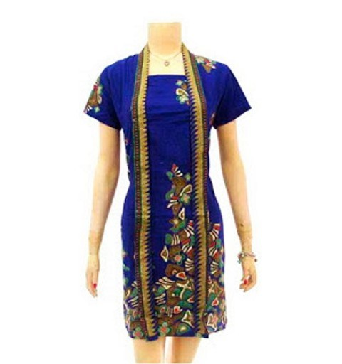 model dress batik wanita modern