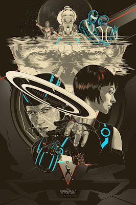 TRON Screen Print Set by Martin Ansin - TRON: Legacy