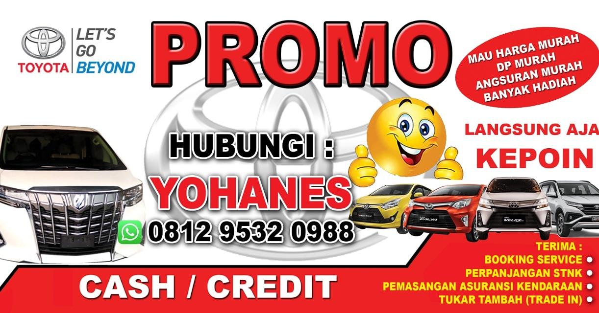 Promo Toyota DP dan Angsuran Termurah Wilayah Sejabodetabek