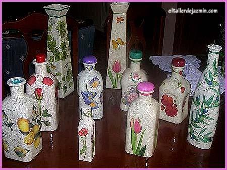 Como adornar una botella imagui - Como decorar botellas con papel ...