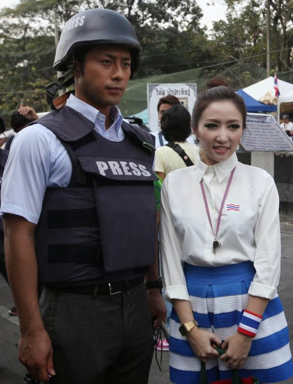 'Handsome' Japanese reporter overshadows Thai politics</font></font></b></p><p style=