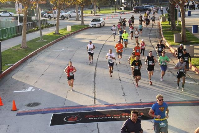 Running LA Rock'n'Roll half marathon