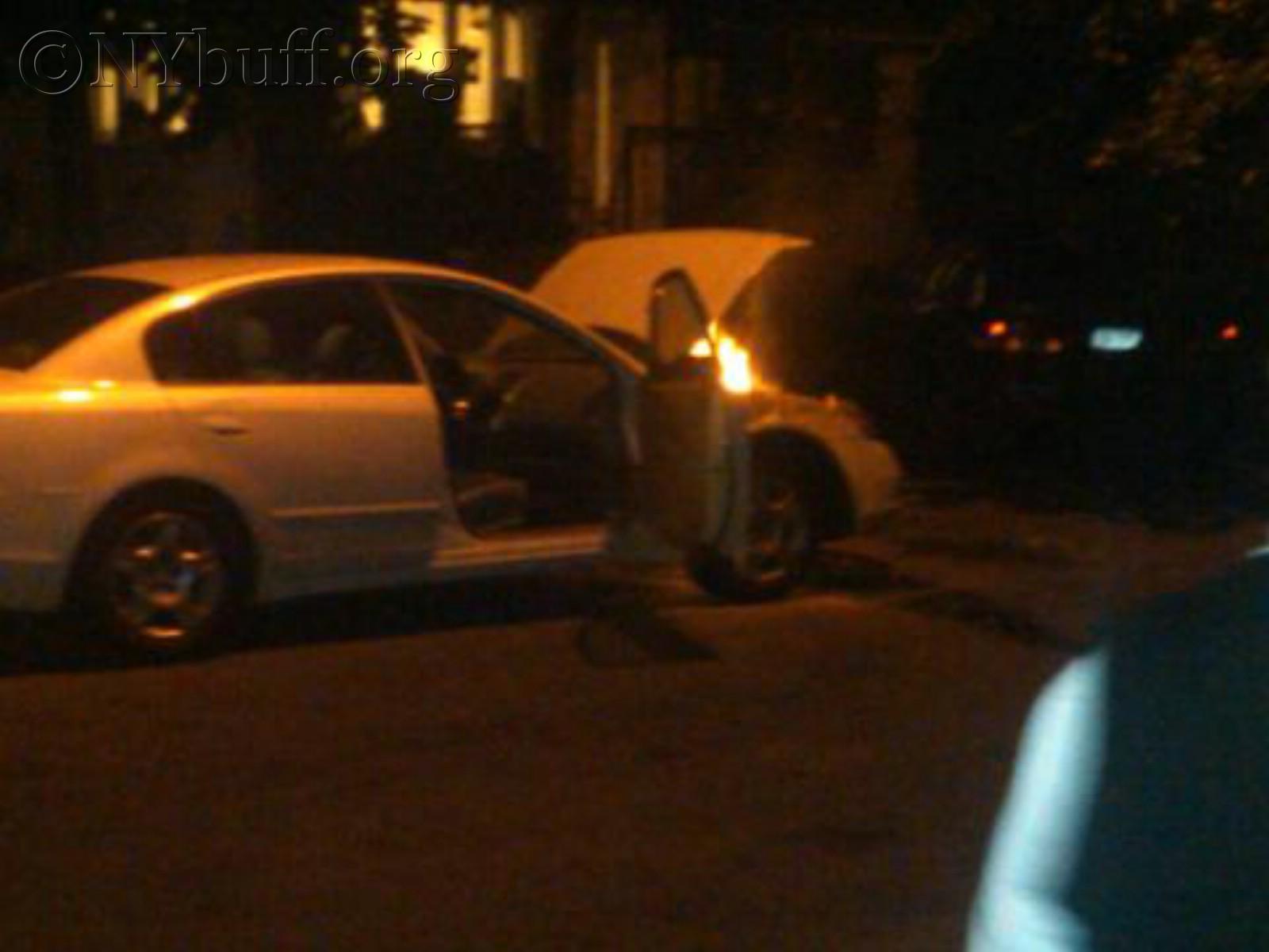 of a car fire last night,