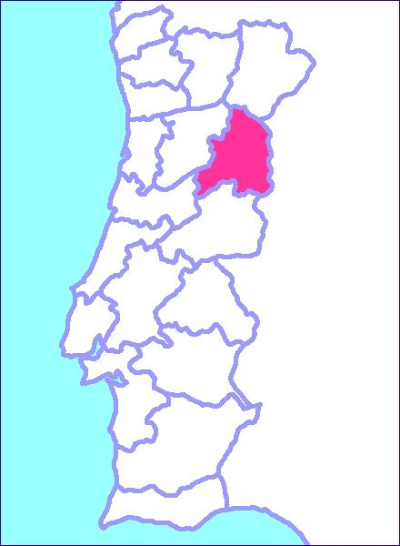 Mapa de portugal y guarda