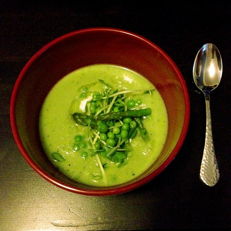 Pea, Asparagus, & Garlic Soup | Hard Parade