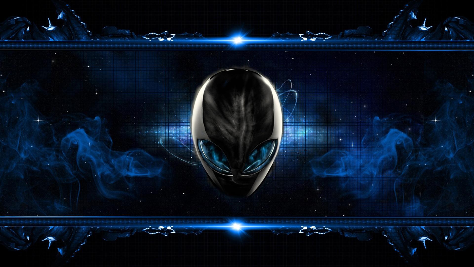 alienware logo blue smoke 39 wallpaper hd