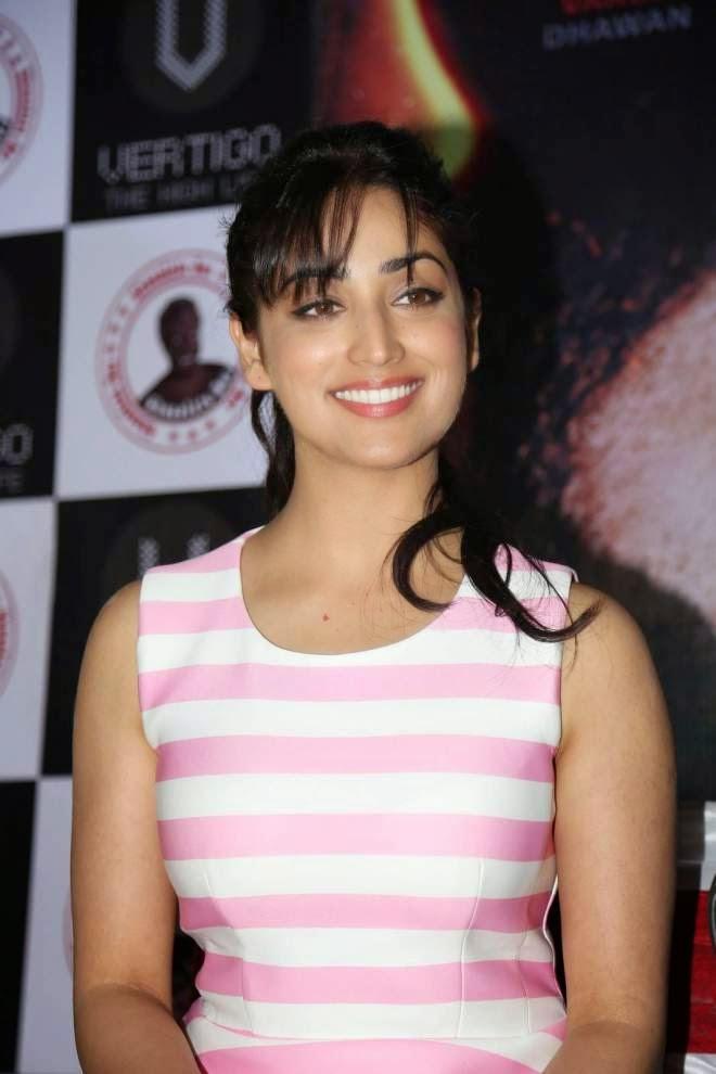 yami gautam latest photos in pink dress