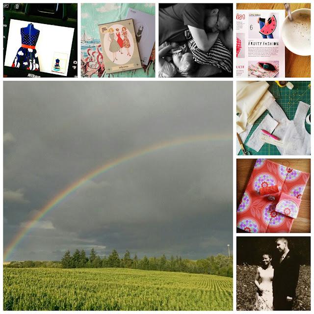 Alltagsperlen im Juli - Instagram-Collage @frauvau.blogspot.de