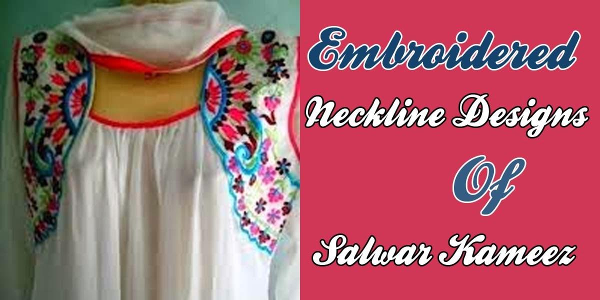 Neckline (gala) Designs 2014-2015 of Salwar Kameez | Embroidered Neck ...