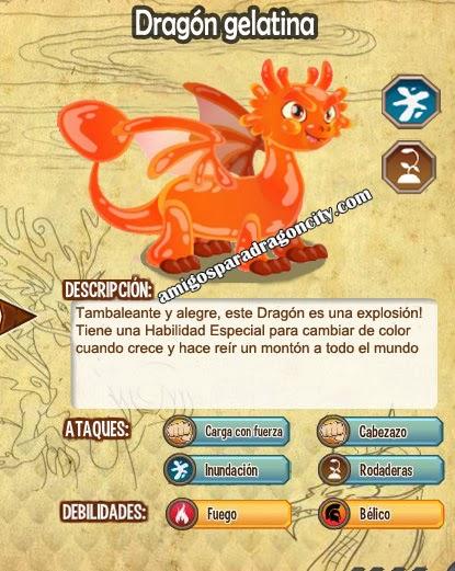 imagen de las caracteristicas del dragon gelatina