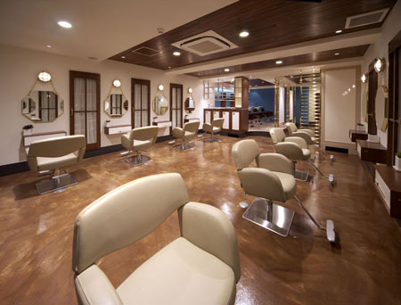 Ganz design salon interior for Hair salons designs ideas