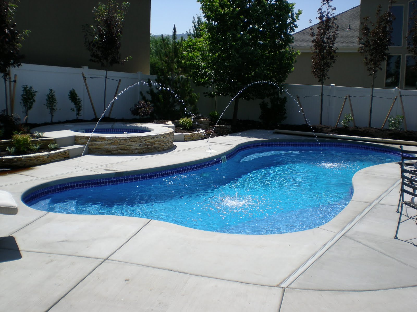 A splash of paradise freeform design for Pool design hamilton