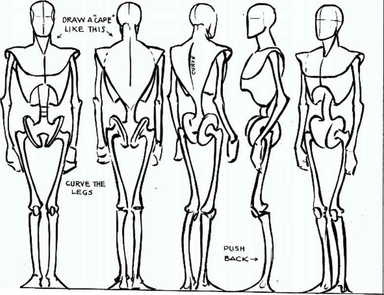 Line Drawing Human Figure : Dig digital character design professor cesar