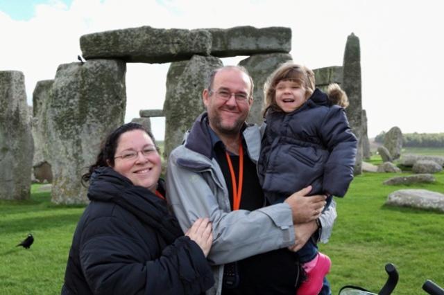 Paco, Vero y Helia Una familia viajera