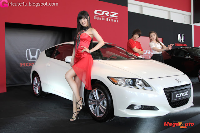 5 Hwang Mi Hee with New Honda's Hybrid CR-Z-very cute asian girl-girlcute4u.blogspot.com