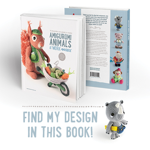 New amigurumi book: Amigurumi animals at work. Now in presale!