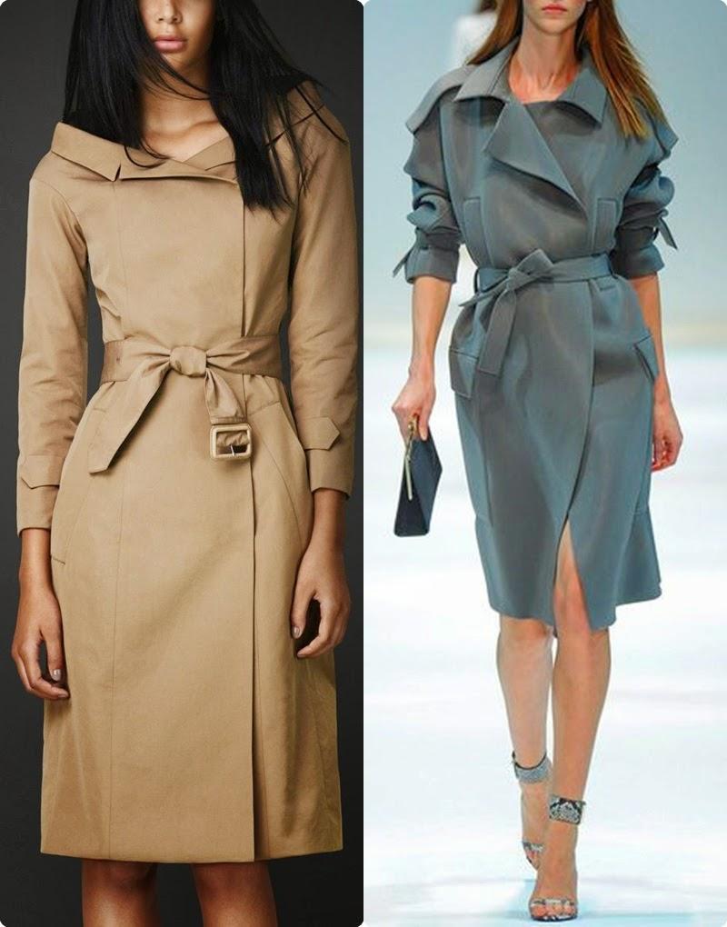 Vestido trench-coat tendencia primavera-verão 2015