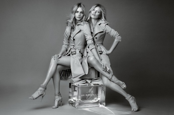 Kate Moss y Cara Delevingne -- Campaña My Burberry