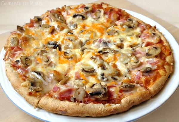 Pizza de jam n york y champi ones for En 3 pizzas te olvido