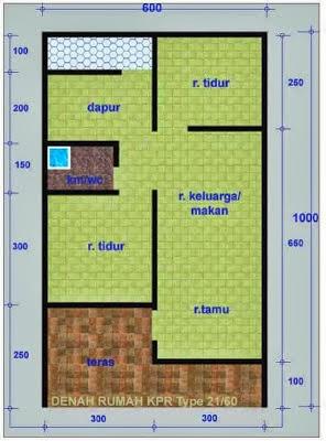 Konstruksi Rumah Minimalis Denah Rumah Minimalis Type 21