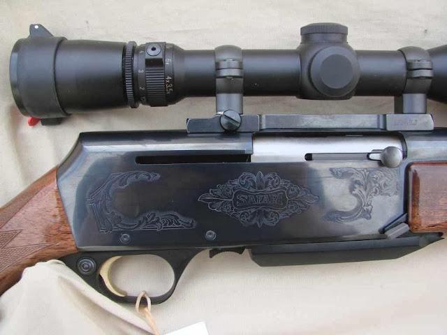 Browning BAR Safari engraving