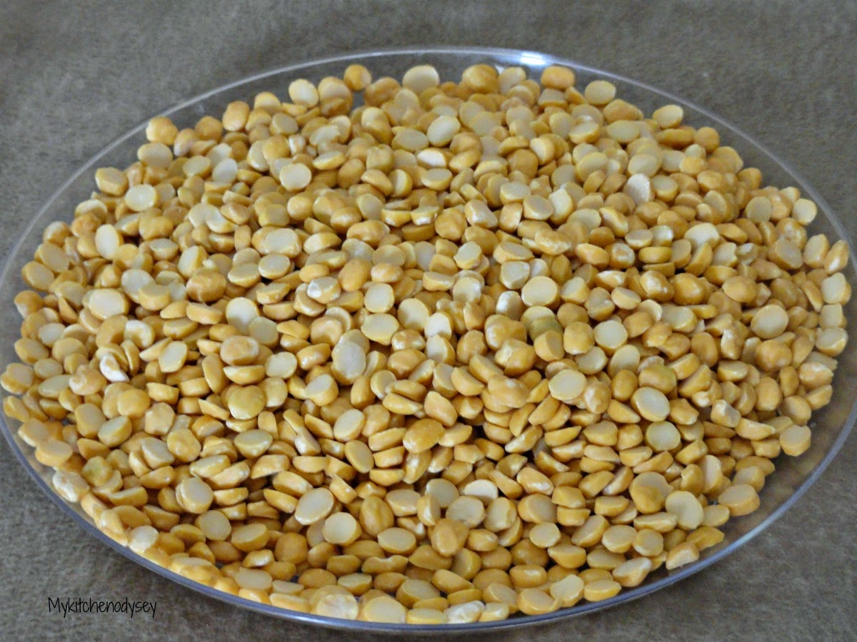 Raw Split pigeon peas